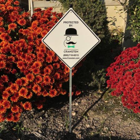 Cransten Sign With Stickers